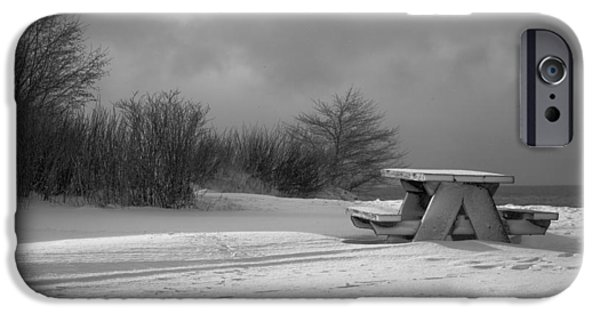Winter Storm iPhone Cases - Winter Solutide iPhone Case by Catherine McIntosh