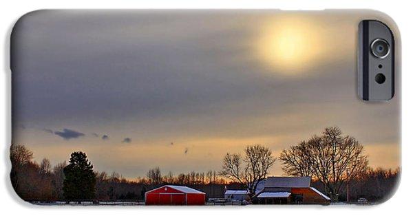 Kim Photographs iPhone Cases - Winter Sun iPhone Case by Evelina Kremsdorf