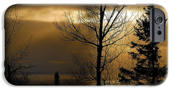 Water Photographs iPhone Cases - Winter Sunrise 1 iPhone Case by Sebastian Musial