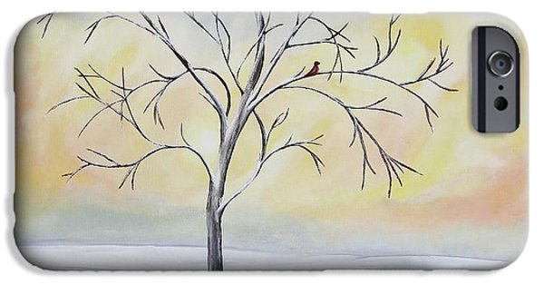 Snow iPhone Cases - Winter Tree iPhone Case by Patricia Alexander