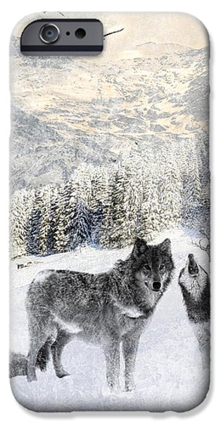 Winter Wolves iPhone Case by Lourry Legarde