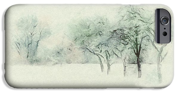 Snow iPhone Cases - Winters Day iPhone Case by Jutta Maria Pusl
