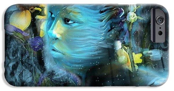 Surrealism Digital Art iPhone Cases - Winters Keeper Of The Garden iPhone Case by Bob Salo