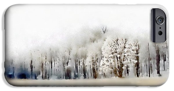 Snowy Day iPhone Cases - Winterscape  iPhone Case by Andrea Kollo