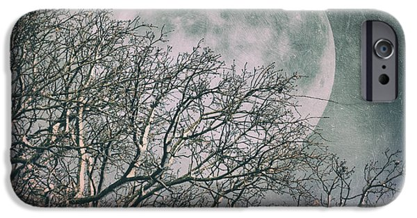 Moon iPhone Cases - Wintertime iPhone Case by SK Pfphotography