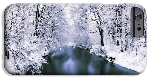 Frigid iPhone Cases - Wintry White iPhone Case by Jessica Jenney