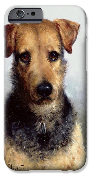Fox Terrier iPhone Cases - Wire Fox Terrier iPhone Case by Lilian Cheviot