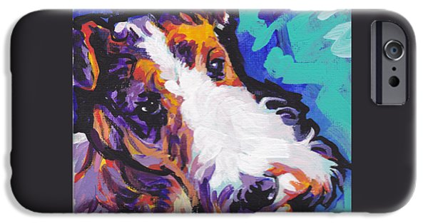 Fox Terrier iPhone Cases - Wired iPhone Case by Lea