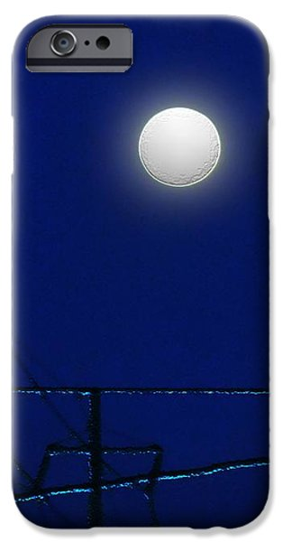 Electrical Equipment iPhone Cases - Wired Moon iPhone Case by RC deWinter