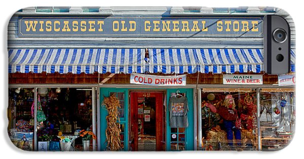 Country Store iPhone Cases - Wiscasset General iPhone Case by Susan Cole Kelly