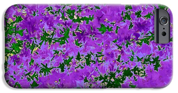 Abstract Digital Tapestries - Textiles iPhone Cases - Wisteria Dreams iPhone Case by Suzi Freeman