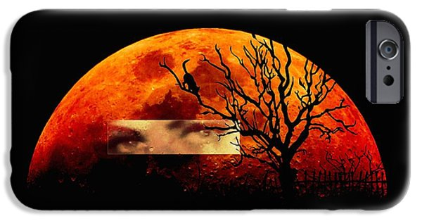 Model iPhone Cases - Witching hour iPhone Case by Frances Lewis