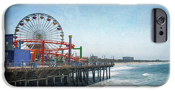 Coastline Digital Art iPhone Cases - With a Smile On My Face iPhone Case by Laurie Search