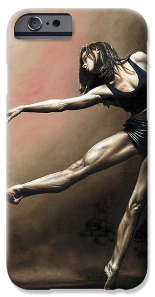 Emotion Paintings iPhone Cases - With Strength and Grace iPhone Case by Richard Young