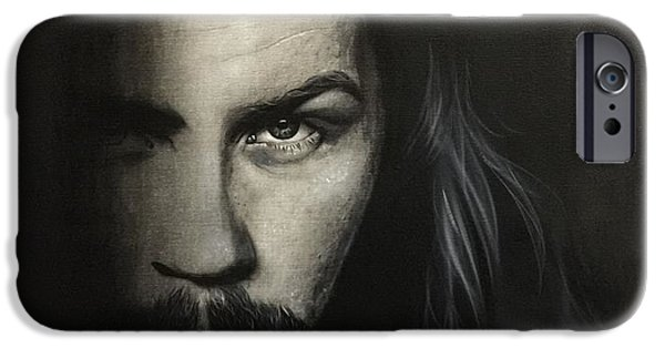 Metallica Paintings iPhone Cases - Within The Shadows of Darkness iPhone Case by Christian Chapman Art