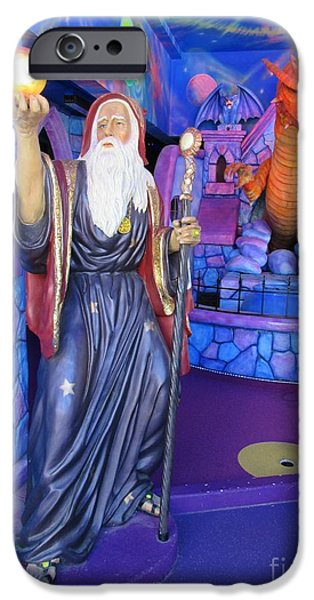 Statue Portrait iPhone Cases - Wizards and Dragons iPhone Case by John Malone