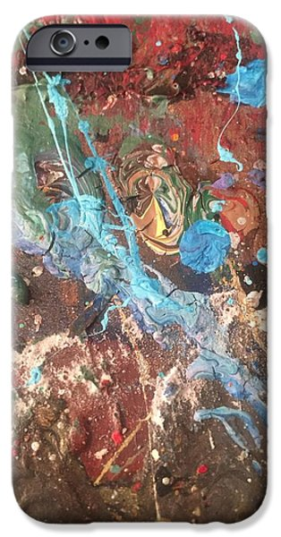 Abstract Expressionism iPhone Cases - Woke Up Dreaming  iPhone Case by Edward Paul