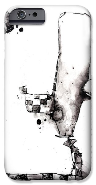 Abnormal Drawings iPhone Cases - Woken Up iPhone Case by Nick Watts