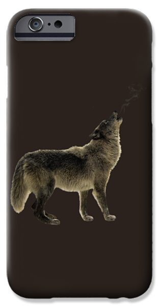 Animals Photographs iPhone Cases - Wolf Howling iPhone Case by Wildlife Fine Art
