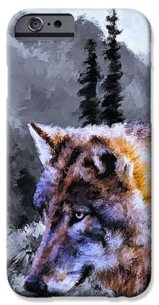 David iPhone Cases - Wolf In The Wilderness iPhone Case by Movie Poster Prints