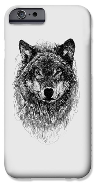 Wild Animals iPhone Cases - Wolf iPhone Case by Michael  Volpicelli
