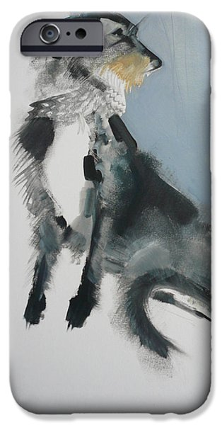 Loose Style iPhone Cases - Wolfhound iPhone Case by Sally Muir