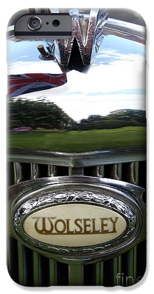Old Cars iPhone Cases - Wolseley iPhone Case by Gary Bridger
