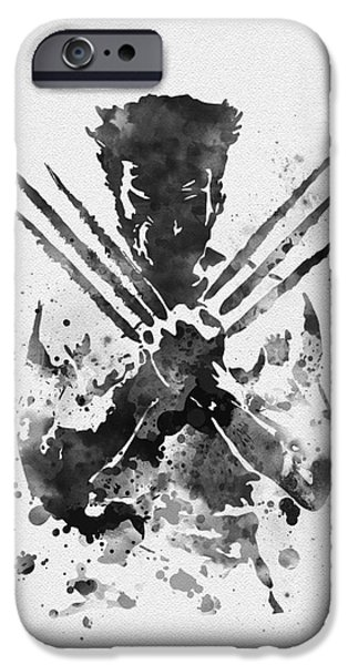 X-men iPhone Cases - Wolverine iPhone Case by Rebecca Jenkins
