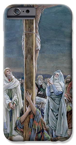 Bible Paintings iPhone Cases - Woman Behold Thy Son iPhone Case by Tissot
