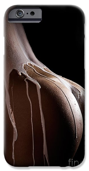 Voluptuous iPhone Cases - Woman Body Covered with Milk iPhone Case by Oleksiy Maksymenko