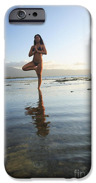 Woman doing Yoga iPhone Case by Brandon Tabiolo - Printscapes