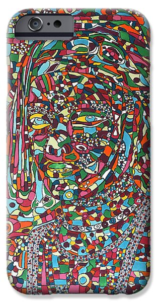 Chicago Paintings iPhone Cases - Woman from Matam iPhone Case by Dianke Daffe-Rachow