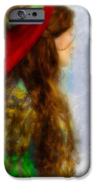 Woman in Medieval Gown iPhone Case by Jill Battaglia