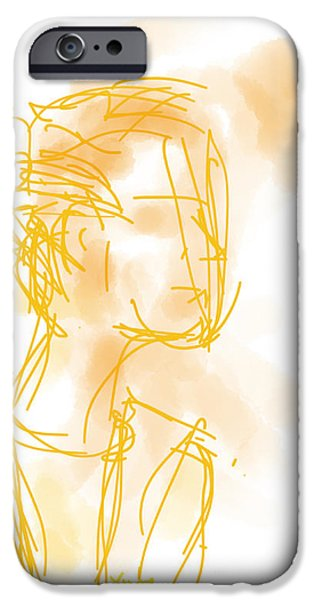 Best Sellers -  - Loose Style Photographs iPhone Cases - Woman in Orange iPhone Case by Robert Yaeger
