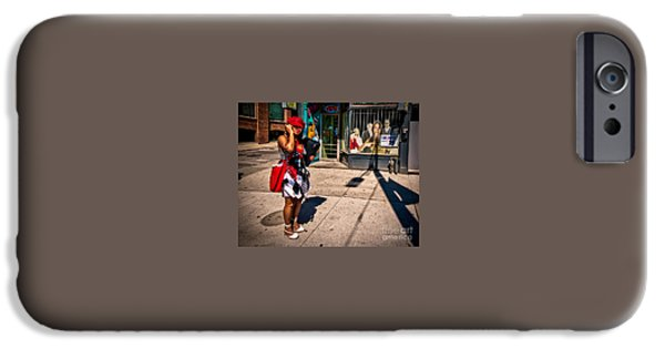 Dave iPhone Cases - Woman Looking Back iPhone Case by Dave Hood