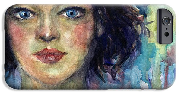 Young Paintings iPhone Cases - Woman  portrait 2 iPhone Case by Svetlana Novikova