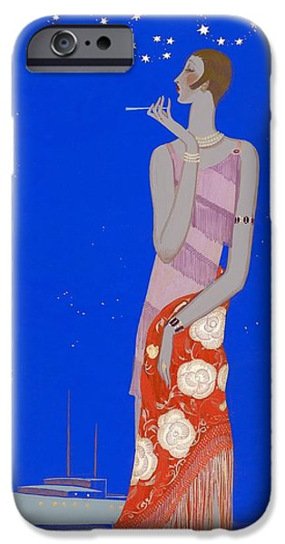 Ball Gown Photographs iPhone Cases - Woman Wearing A Pink Floral Printed iPhone Case by Conde Nast