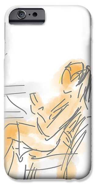 Best Sellers -  - Loose Style Photographs iPhone Cases - Woman with Cell Phone I iPhone Case by Robert Yaeger