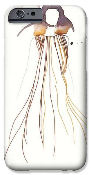 Loose Style iPhone Cases - Woman with dress from Chloe iPhone Case by Toril Baekmark