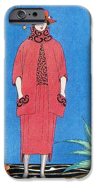 Georges Barbier iPhone Cases - Womens Fashion, George Barbier, 1921 iPhone Case by Science Source