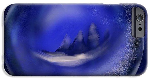 Winter Scene iPhone Cases - Wonder ball iPhone Case by Christine Fournier