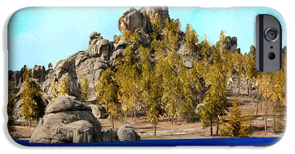 Mounds iPhone Cases - Wonder on the Mountain iPhone Case by Bruce Nutting