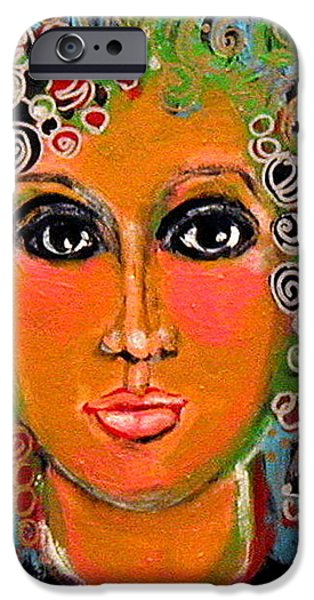 Young Paintings iPhone Cases - Wondering iPhone Case by Paula ANDERSON