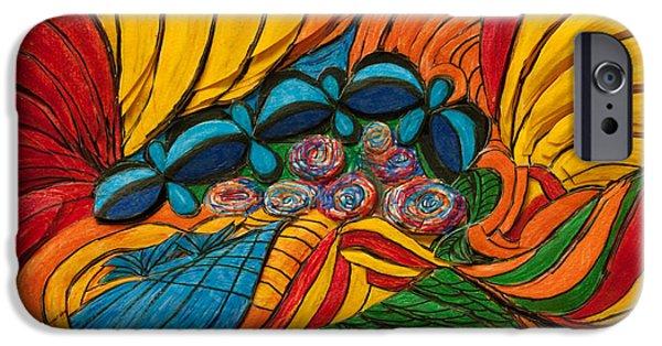 Alice In Wonderland iPhone Cases - Wonderland Garden iPhone Case by Elva Robinson