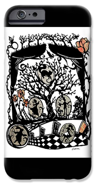 Alice In Wonderland iPhone Cases - Wonderland iPhone Case by Kathryn Carr