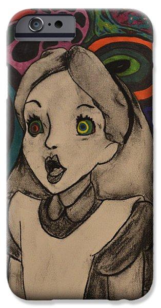 Alice In Wonderland iPhone Cases - Wonderland iPhone Case by Miranda Strapason