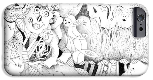 Alice In Wonderland iPhone Cases - Wonderlands and Yellow Brick Roads iPhone Case by Helena Tiainen