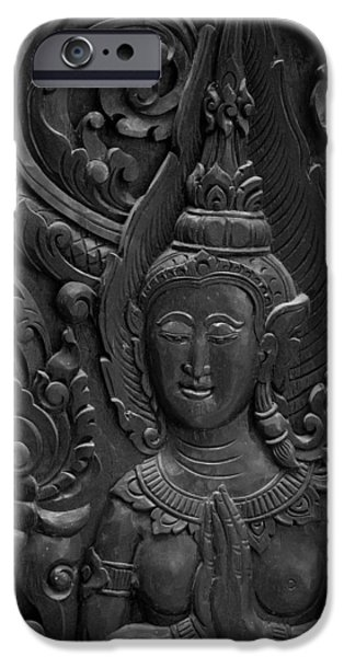 Antiques Reliefs iPhone Cases - Wood Carving. iPhone Case by Dollatum Hanrud