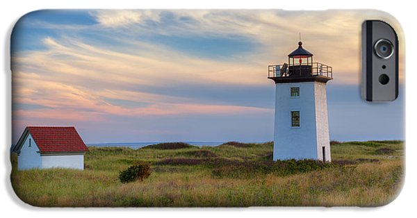 New England Lighthouse iPhone Cases - Wood End Light Cape Cod iPhone Case by Bill Wakeley