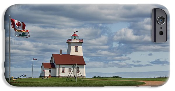 Interpretive iPhone Cases - Wood Islands Lighthouse #2 - PEI iPhone Case by Nikolyn McDonald